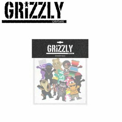 【GRIZZLY】グリズリー CHARACTER STICKER PACK ステッカーパック ステッカー シール スケートボード 15枚入り