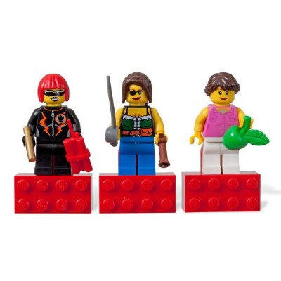 レゴ マグネット 852948 Minifigs Girls Magnet Set - Dyna-Mite, Pirate Female, Town Female