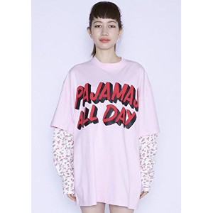 【リトルサニーバイト】little sunny bite pajamas all day layered long sleeve tee pink