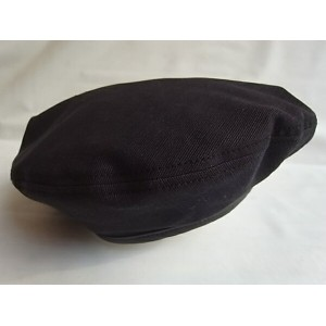 C-PLUS HEAD WEARS【FABRIC BERET/INDIGO GROGRAM】★BLACK★