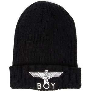 ボーイロンドン boy london メンズ 帽子 ニット【boy eagle appliqué beanie hat】Black