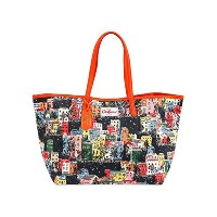 cath kidston キャスキッドソン Leather Trim TOte Large TWNhouses 443180 『国内正規アウトレット品』