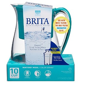 Brita Monterey Water Filter Pitcher, 10 Cup- Teal by Brita