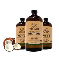(Wild Foods) 100% Pharmaceutical Grade MCT Oil Wild MCT Made in USA 32-fluid Oz Glass bottle...