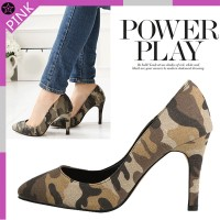 Pggn6560-/ military / pattern / special / pumps / 9m / high heels / dress / shoes / ★ Free Shipping...