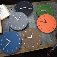 ★Design Award Winning★ Sandwich Retro Leather Wall Clock/Retro Wall Clock/Retro Leather Clock/Easy...