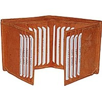 (Marshal) Bifold Business Credit Card Case Leather Wallet #2192CF