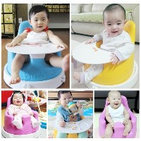 [Budsia Korea] Soft Cushion Baby Infant Chair with jumbo size Trays / Made in Korea
