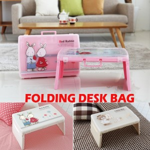 Kids Desk Bag★Safety Foldable Mini Bed Table★Child Tea Table★Anywhere Car Notebook Sofa/Made in...