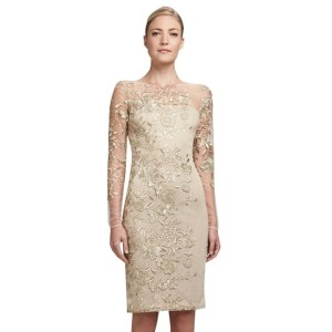 European Embroidery Style Round Collar Slim Fit Dress