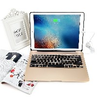 For iPad Pro 12.9 Aluminum Keyboard Case with 7 Colors Backlight Backlit Wireless Bluetooth...