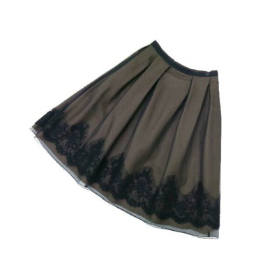 FOXEY BOUTIQUE 36692 Skirt(Flower Dance) ブラックブラック 38 S1【中古】