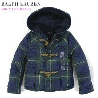 "(TODDLER) POLO by Ralph Lauren ""GIRL (2-6X)"" Quilted Duffle Coat USラルフローレン 子供用のキルティング ダッフルコート"