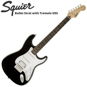 Squier Bullet Strat with Tremolo HSS BLK エレキギター