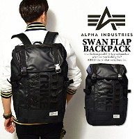 (アルファインダストリーズ)ALPHA INDUSTRIES SWAN FLAP BACKPACK BLACK ONE