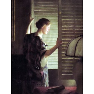 油絵 William MacGregor Paxton_朝の陽ざし