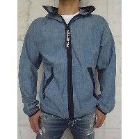 "G-STAR RAW[ジースター]【STRETT HOODED GYM-BAG JACKET】""LIGHTWEIGHT BLUE LOCKSTART CHAMBRAY""""ナップサック付き..."
