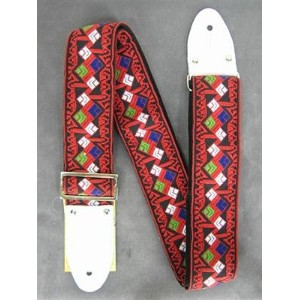 Montreux Retrovibe Strap 1970 Red (white tab)