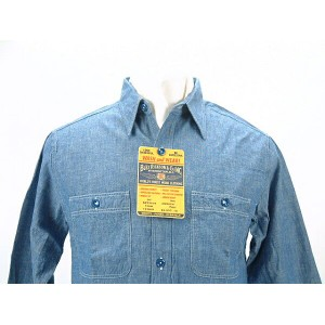 Buzz Rickson's バズリクソンズ LONG SLEEVEBLUE CHAMBRAY WORK SHIRT U.S. NAVY