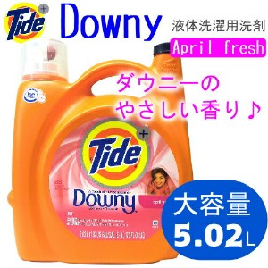 Tide Liquid plus a Touch of Downy 5.02L 約88回分タイド リキッド プラス ダウニーエイプリルフレッシュ 液体洗濯洗剤【smtb-ms】0867408