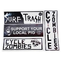 【CYCLE ZOMBIES】 サイクルゾンビーズ 【CZ Assorted bumper Sticker Pack】 約26cm x 約8.5cm ステッカーパック ステッカー 4枚セット...