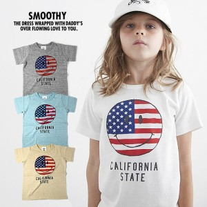 【P最大41倍&クーポン多数】スムージー キッズ Tシャツ SMOOTHY [17T-01] SMILE TEE キッズ 子供服 日本製 半袖Tシャツ[メール便]【17SP】修正【SPS】