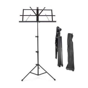 Kabalo Metal Adjustable Sheet Music Stand Holder Folding and Foldable WITH FREE CARRY CASE BAG...