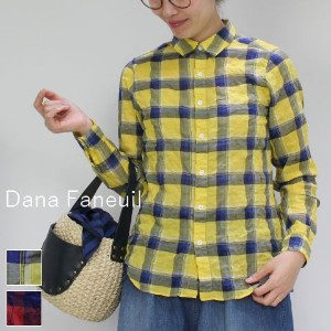 【outlet sale 50%OFF】 Dana Faneuil(ダナファヌル)レギュラーカラー シャツ 2colormade in japand-6317201-w