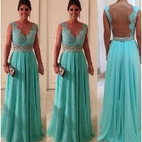 Sexy Womens Lace Evening Party Ball Prom Gown Formal Bridesmaid Cocktail Dress