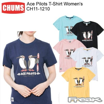 CHUMS チャムス CH11-1210 Ace Pilots T-Shirt Women's エースパイロットTシャツ ※取り寄せ品