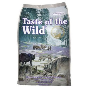 Taste of the Wild Grain Free Sierra Mountain Canine Dog Formula Food 30lbs