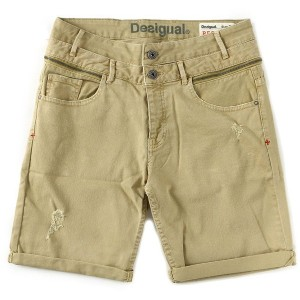 【SALE 50%OFF】デシグアル Desigual DENIM_SHORT DENIM_COLOR (AMARILLO FREESIA)