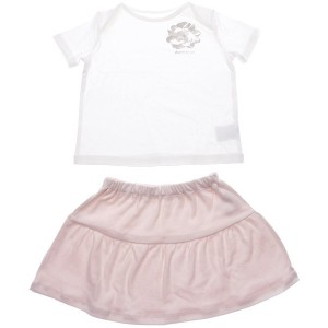 【SALE 50%OFF】コムサイズム COMME CA ISM 1・2歳頃用 トロンプイユTシャツ&スカートギフトセット(女の子向け) (ホワイト)