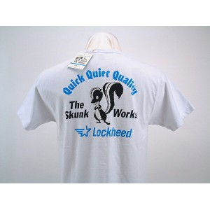 "Buzz Rickson's バズリクソンズ LOCKHEE ロッキード"" THE SKUNK WORKS ""スカンクワークスQUICK QUIET QUALITYSHORT SLEEVE T..."
