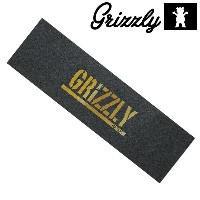 GRIZZLY デッキテープ グリズリー GRIPTAPE SKATEBOARD スケートボード スケボー GOLD STAMP GRIPTAPE SK8BOARD