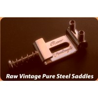 Raw Vintage/pure steel saddles(RVS-112/RVS-108)【ロービンテージ】【楽器de元気】