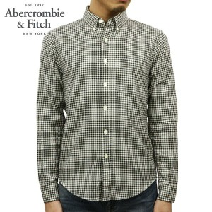 アバクロ Abercrombie&Fitch 正規品 メンズ 長袖シャツ Gingham Herringbone Button-Up Shirt 125-168-2354-138