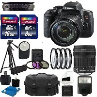Canon EOS Rebel T6i デジタル DSLR Camera Full HD ビデオ with EF-S 18-135mm f/3.5-5.6 IS STM レンズ With オート...