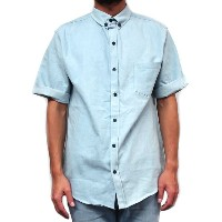 PORT LBC (ポート) 半袖 ボタンダウンシャツ / ROYCROFT BUTTON UP - LT DENIM / MADE IN THE USA 【t90】