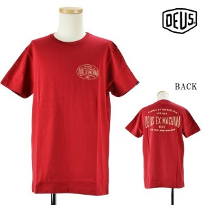 【SALE】Deus ex Machina T-shiet RED dmp71469a-red メンズ/半袖/トップス/レッド