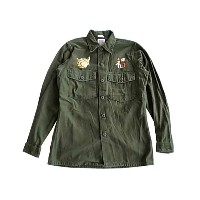 "FROM THE GARRET フロムザギャレット ""HORIZONTAL"" US ARMY UTILITY SHIRT TYPE B ユーティリティ シャツ USEDリメイク B.OLIVE..."
