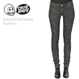 【SALE】Cheap Monday(チープマンデー)SLIM LOW RISE SKINNY Black Stoneスキニー/デニム