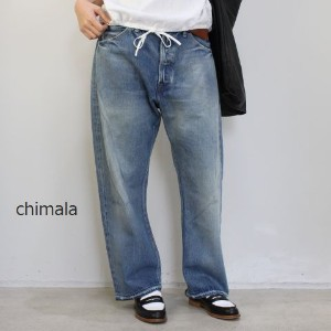 chimala(チマラ)13OZ BROWN COTTON NEP SELEDGE DENIMVINTAGE BAGGY CUTmade in japancs23-wp03b-f