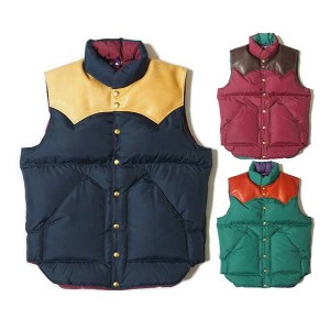 ★SALE 30%OFF★ WAREHOUSE ウエアハウス × Rocky Mountain Feather Bed ロッキー マウンテン NYLON DOWN VEST ナイロン ダウンベスト...