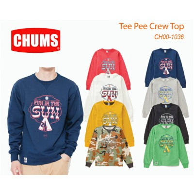 CHUMS チャムス CH00-1036 Tee Pee Crew Top ティーピークルートップ  ※取り寄せ品