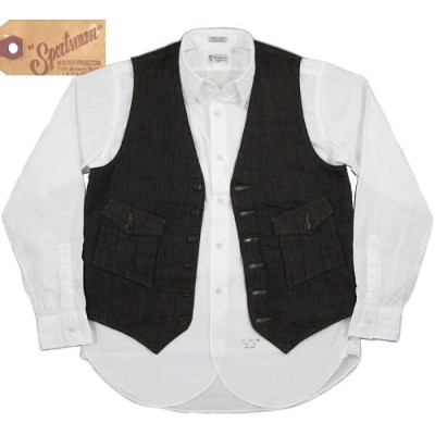 MFSC Made in U.S.A.Mister Freedom×Sugar Cane/ミスターフリーダム×シュガーケーン NOS BROWN CANVAS CONTINENTAL VEST...
