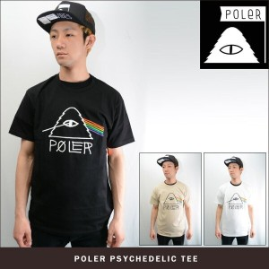 POLeR CAMPING STUFF PSYCHEDELLIC TEE SP17(3色展開) 【正規取扱店】ポーラー Tシャツ 631108