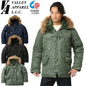 Valley Apparel バレイアパレル MADE IN USA N-3B フライトジャケット 送料無料 【クーポン対象外】 ギフト プレゼント 新生活 決算 WIP メンズ ミリタリー...