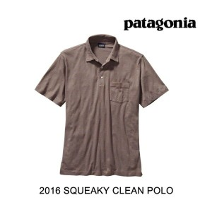 2016 PATAGONIA パタゴニア ポロシャツ SQUEAKY CLEAN POLO FMOB OAKS BROWN
