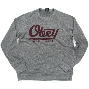OBEY(オベイ) OBEY LE WORLDWIDE Heather Triblend Crew Swet Shirt(スウェットシャツ)